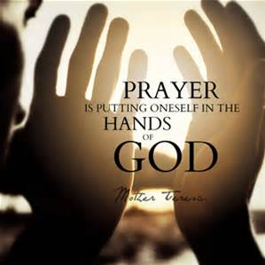 prayer in hands of god
