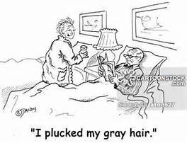 gray hair cartoon