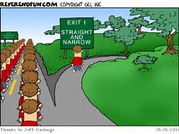 straight and narrow path