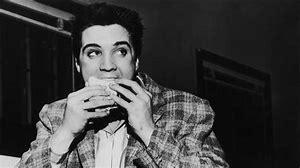 Elvis eating