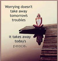 worry - peace