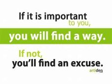 excuses - important