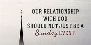 Relationship not just Sunday