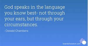 god speaks in circumstances