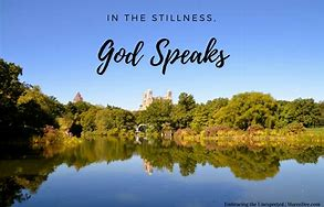 god speaks in stillness