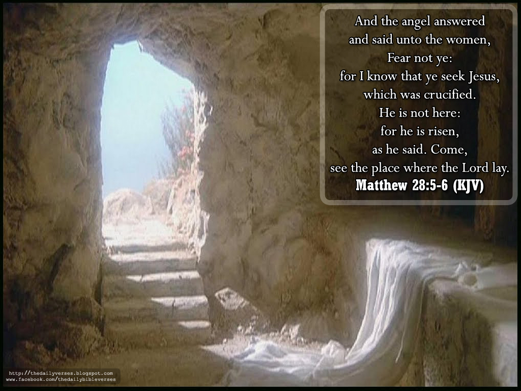 Matthew 28.5-6